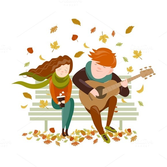 Boy Plays Guitar For A Girl