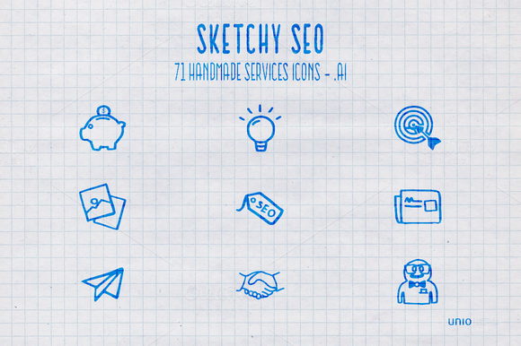 SketchySEO 71 Services Icons