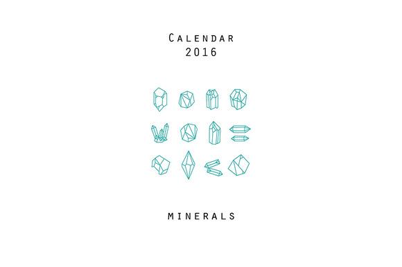Calendar 2016 Minerals