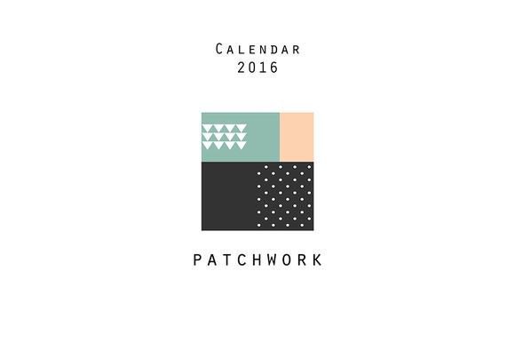 Calendar 2016 Patchwork