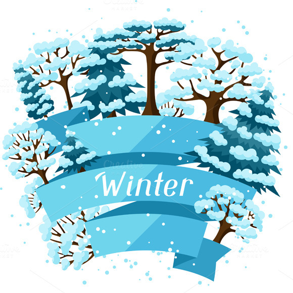 Winter Backgrounds With Trees