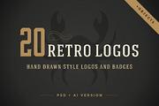 20 hand drawn logos-Graphicriver中文最全的素材分享平台