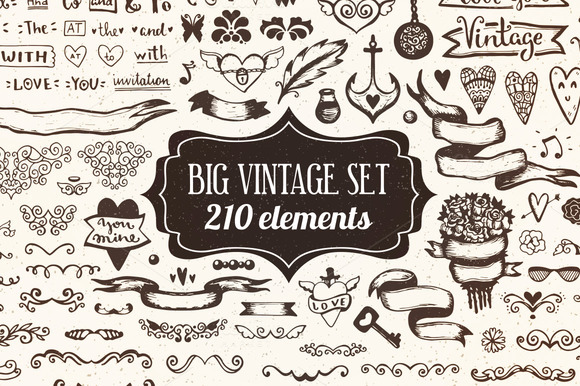 210 Elements Big Vintage Set