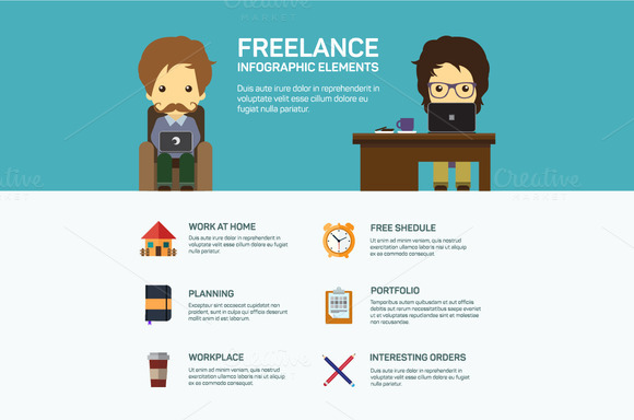 freelance infographic template objects on creative market. Black Bedroom Furniture Sets. Home Design Ideas