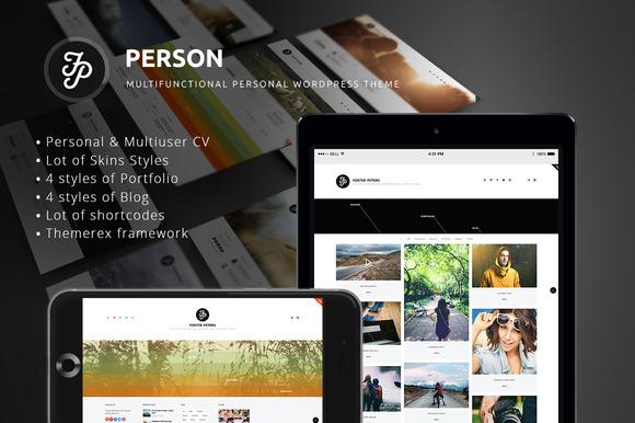 The Person Blog Resume Portfolio