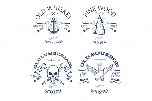 Vintage Style Whisky Label Design