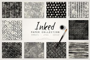 Ink Brush Digital Paper Collection