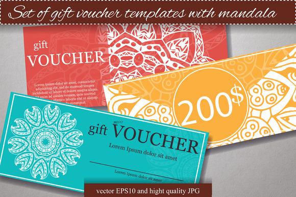 Set of gift voucher templates ~ Flyer Templates on Creative Market