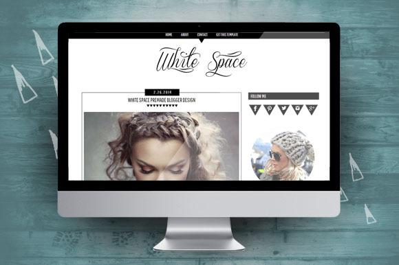 White Space Blogger Theme
