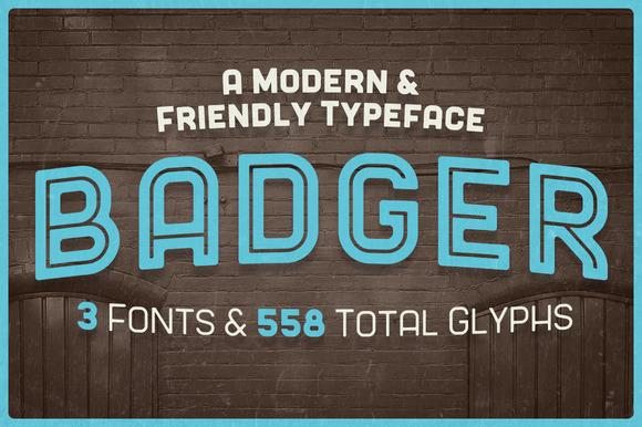 Badger Modern Headline Typeface