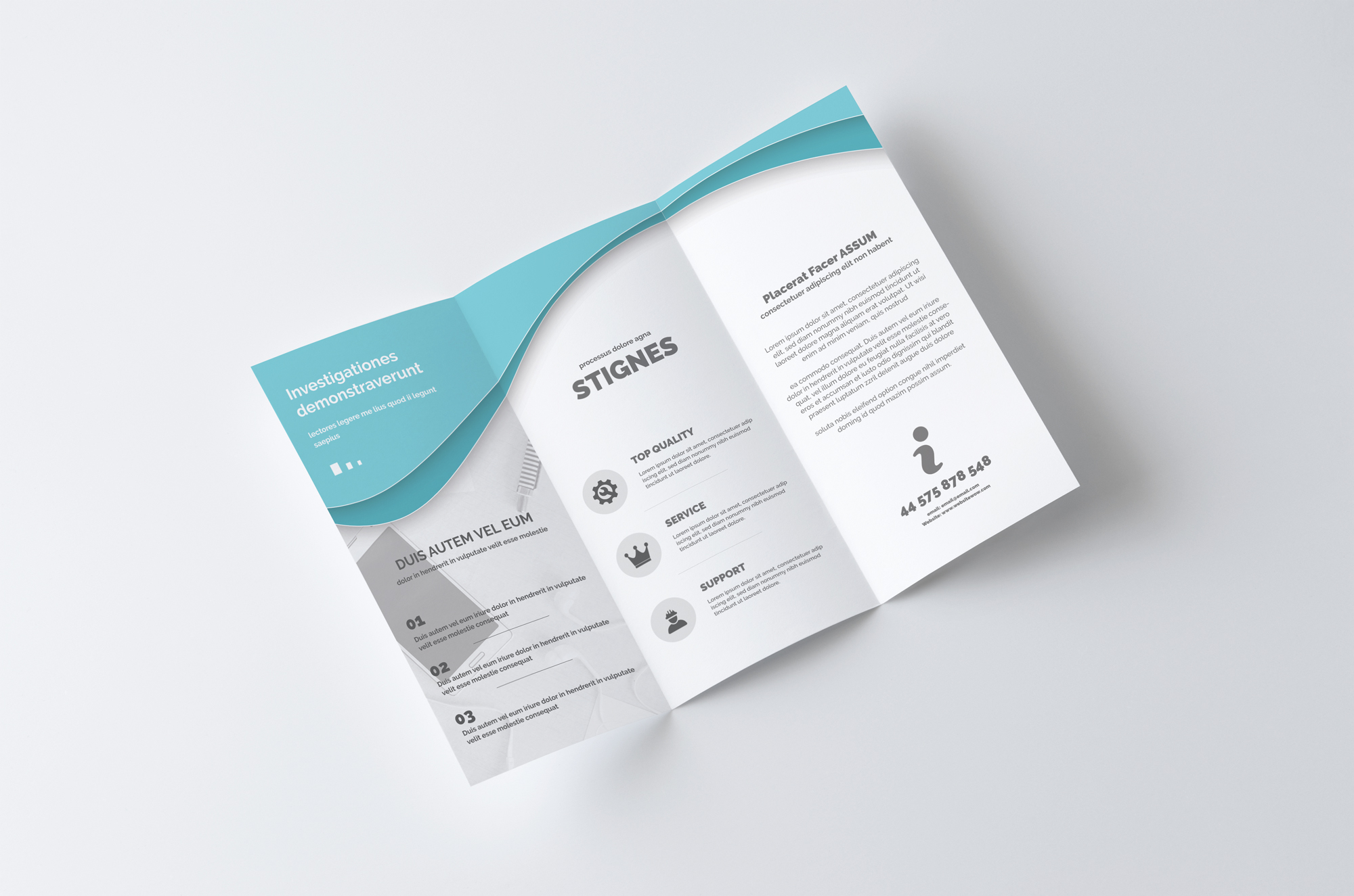 business tri fold brochure templates - multipurpose business trifold brochure templates on
