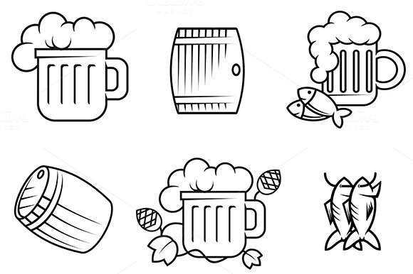 Beer And Alcohol Symbols