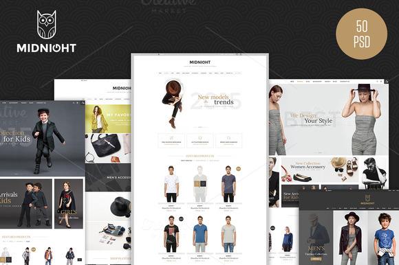 MidNight Fashion ECommerce PSD