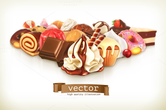 Confectionery Vector Illustration