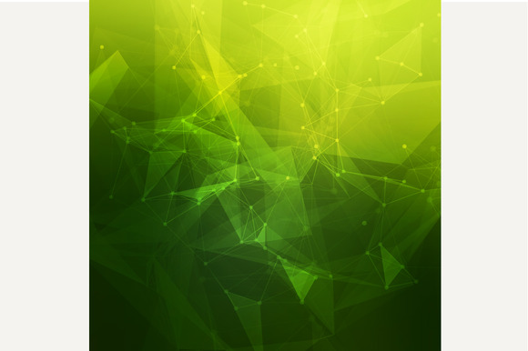 Abstract Low Poly Green Background