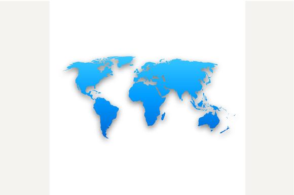 3D Vector World Map Illustration