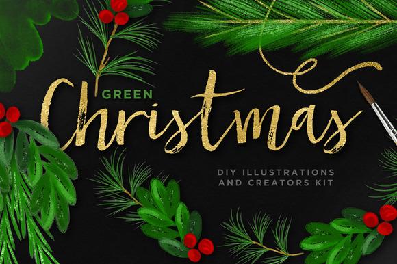 Green Christmas DIY Creator Kit EU