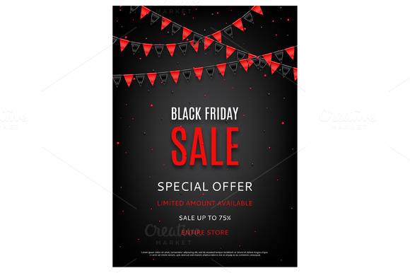 design of the flyer of black friday flyer templates on creative market. Black Bedroom Furniture Sets. Home Design Ideas
