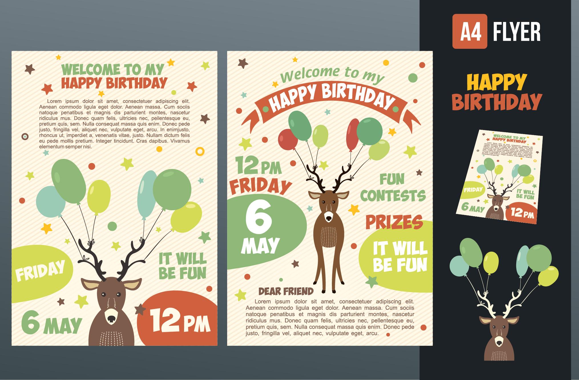 happy birthday invitation card  invitation templates on