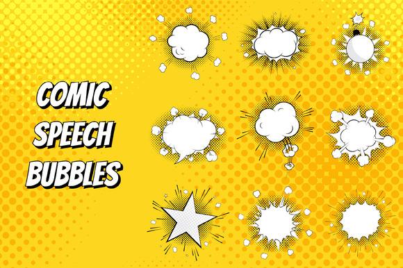 Set Of Comic Speeches Bubbles