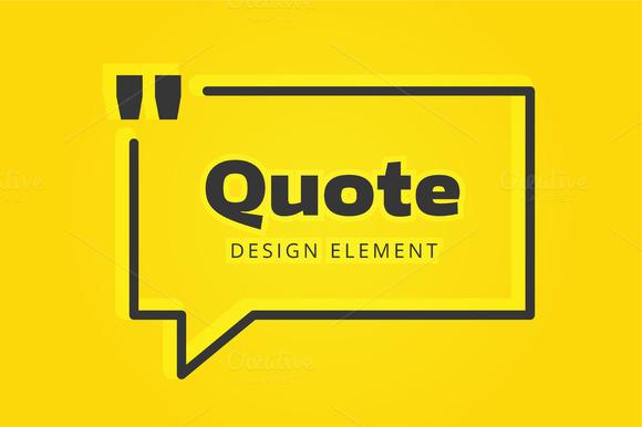 Quote Blank Bubble Icon Logo Set