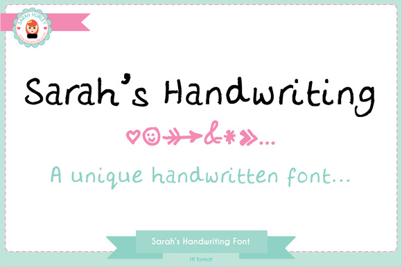 Sarah S Handwriting Font
