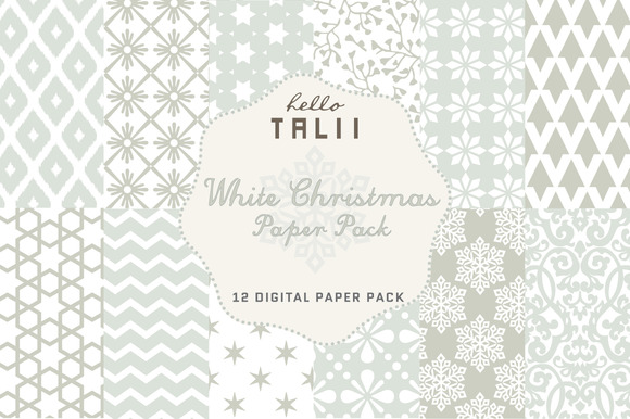SALE White Christmas Paper Pack
