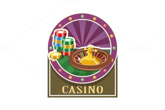 Casino. Roulette and counter - Illustrations
