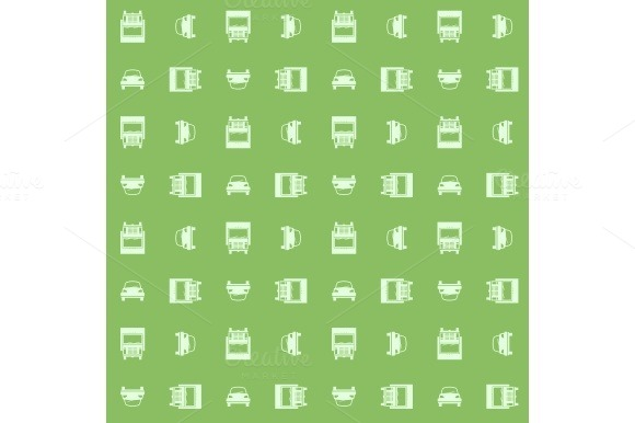 Car and truck. Seamless pattern - Patterns