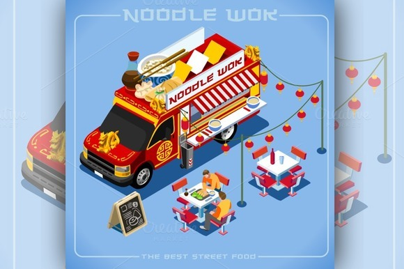 Chinese Noodle Wok Food Truck