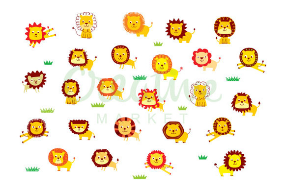 Lion Vector Set