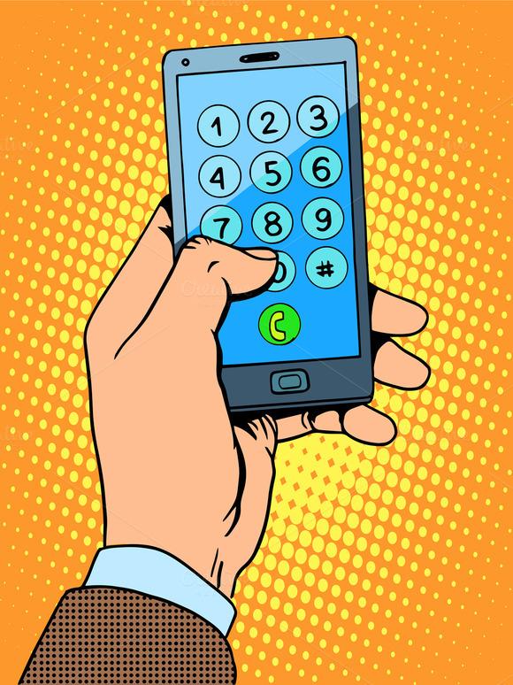 Hand Smartphone Phone Number