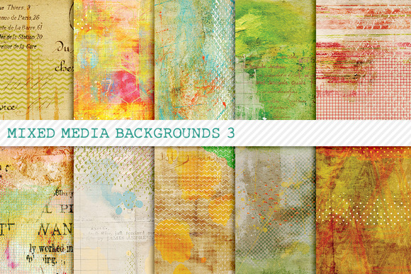 Mixed Media Backgrounds 3