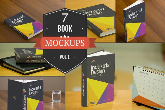 Book Cover PSD Mockups Vol. 1 - Product Mockups