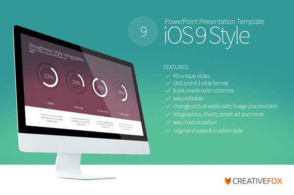 Ios 9 style powerpoint template presentation templates for Powerpoint templates torrents