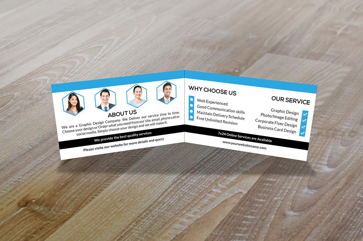 folded business card vol 1 business card templates on creative market. Black Bedroom Furniture Sets. Home Design Ideas