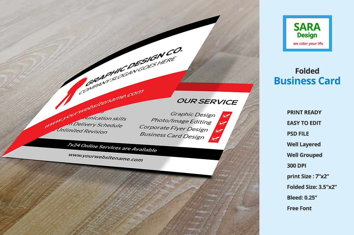 folded business card vol