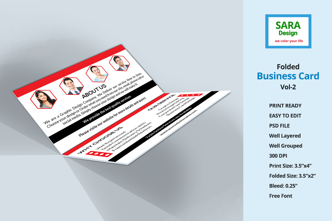 folded business card templates - Ideal.vistalist.co