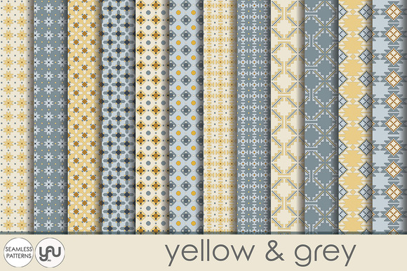 Yellow And Grey Digital Paper