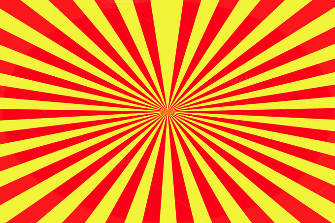 Geometric Lines Of Yellow And Red B