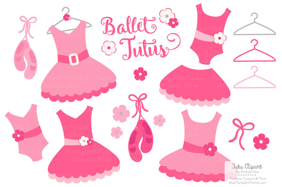 Girl Ballet Shoes Clipart