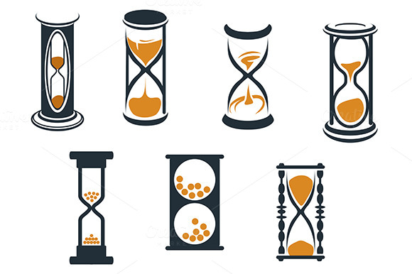 hourglass symbols graphics on creative market