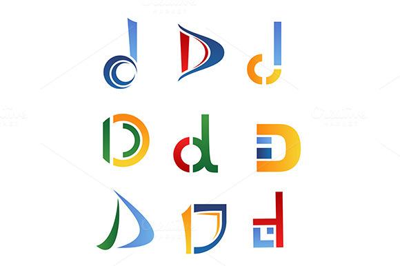 Letter D Symbols