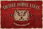 50 Vintage Animal Logo-Graphicriver中文最全的素材分享平台