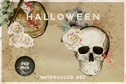 Watercolor Halloween vintag-Graphicriver中文最全的素材分享平台