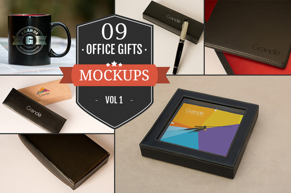 Gorgeous Office Gift Mockups Vol. 1 - Product Mockups