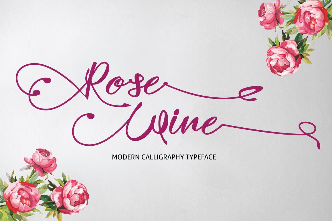 Rose Wine Typeface ~ Script Fonts on Creative Market