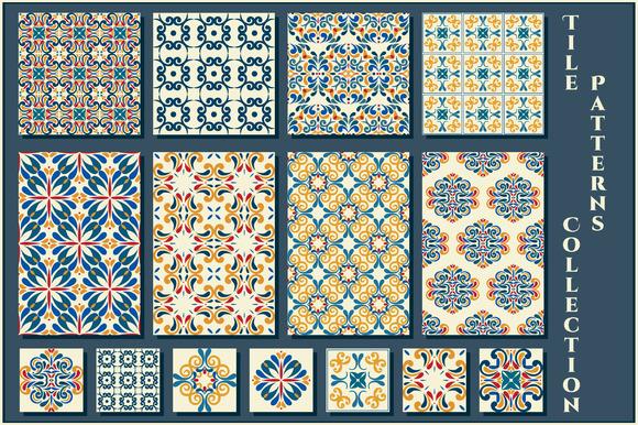 Set Of Vintage Tile Patterns