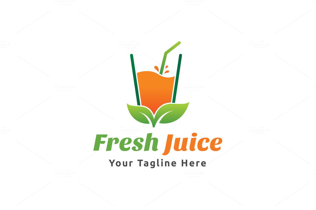 fresh juice logo logo templates on creative market