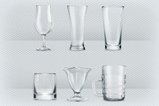 Transparent glasses goblets-Graphicriver中文最全的素材分享平台